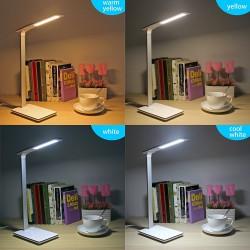 Lampa de birou cu incarcare Qi